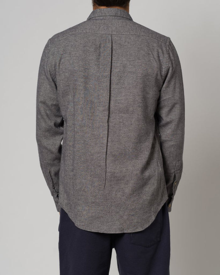 Portuguese Flannel Teca Shirt, Light Grey