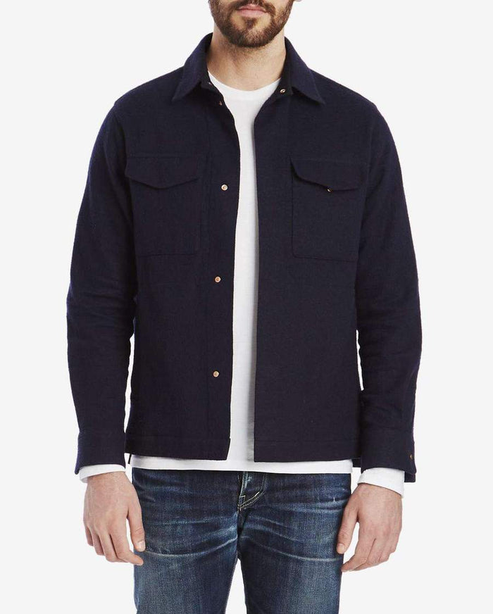 Private White CPO Jacket, Navy