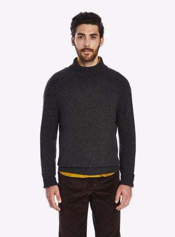 Private White Cashmere Submariner Rollneck, Charcoal