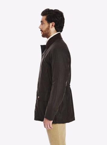 Private White Cottenham Wax Jacket, Olive