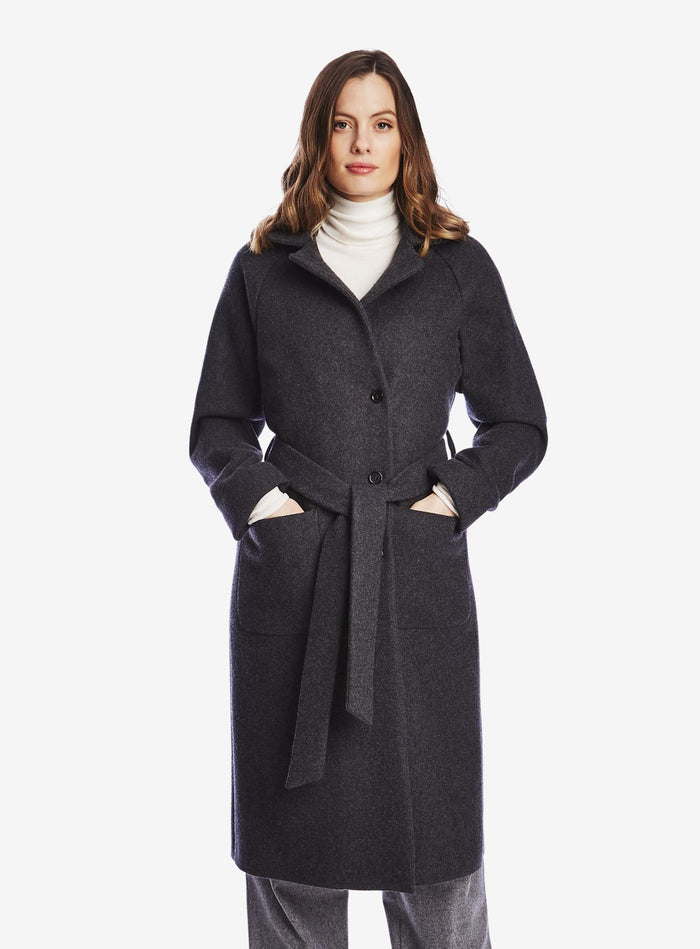 Private White Family Single-Breasted Overcoat, Charcoal