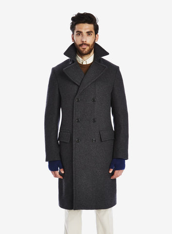 Private White Unisex Cashmere-Blend Double-Breasted Great Overcoat