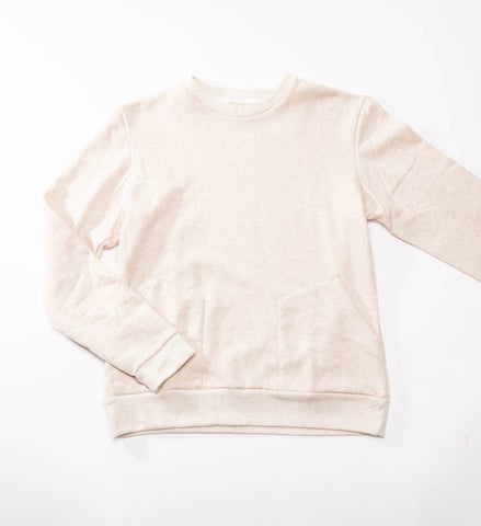 Private White V.C. Cotton Jersey Pocket Sweatshirt, Ecru