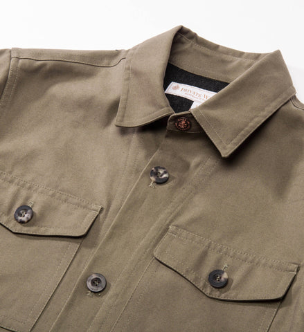 Private White V.C. Piccadilly Shacket, Olive