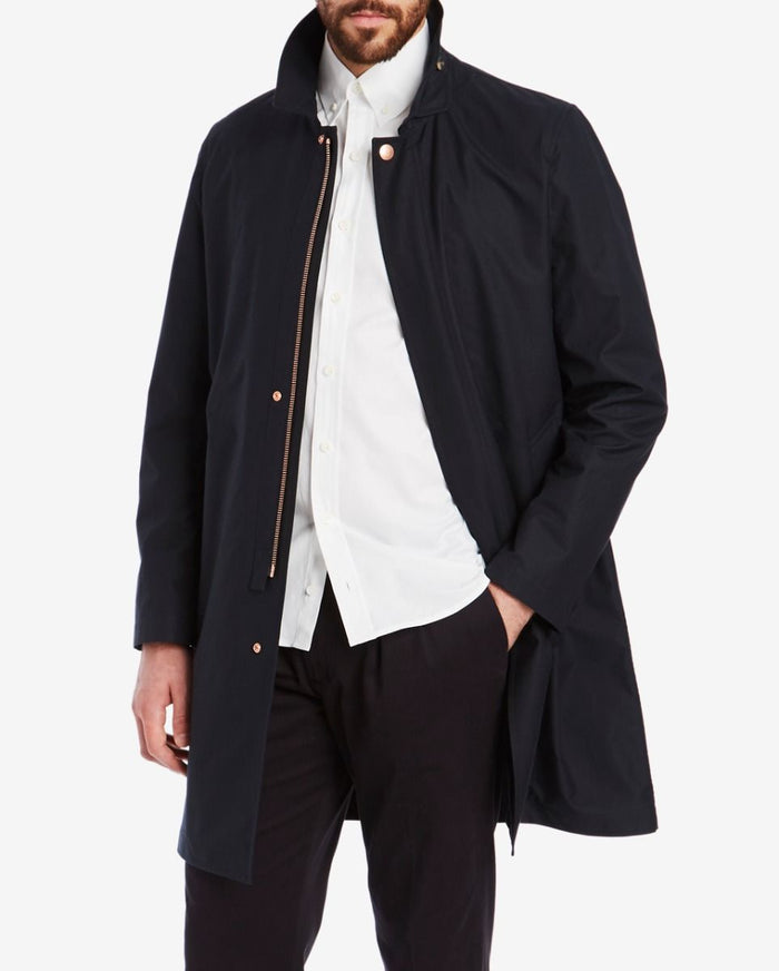 Private White VC Ventile SB Mac Coat, Midnight Navy