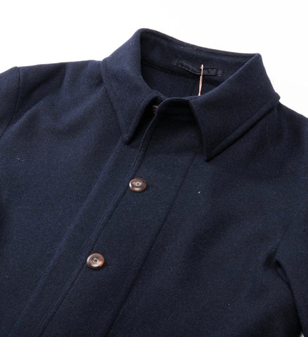 Private White V.C. Woolen Shacket, Navy