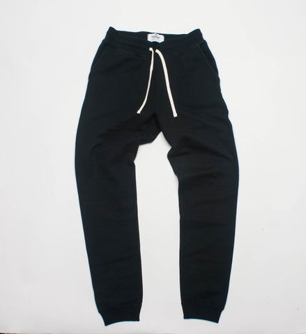 Reigning Champ Knit Terry Slim Sweatpant, Black