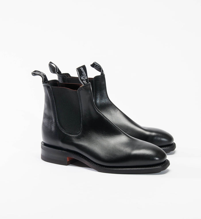 Men's R.M. Williams Comfort Craftsman Boot, Black | Chelsea Boot | Portland Dry Goods