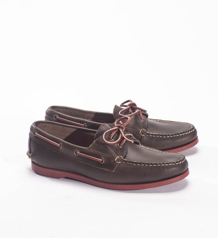 Rancourt Men's Read Boat Shoe, Dark Olive CXL