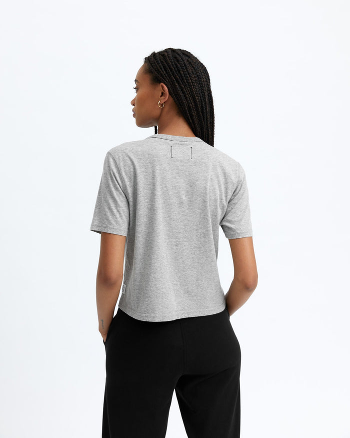 Reigning Champ Women's Box Fit T-Shirt, Heather Grey