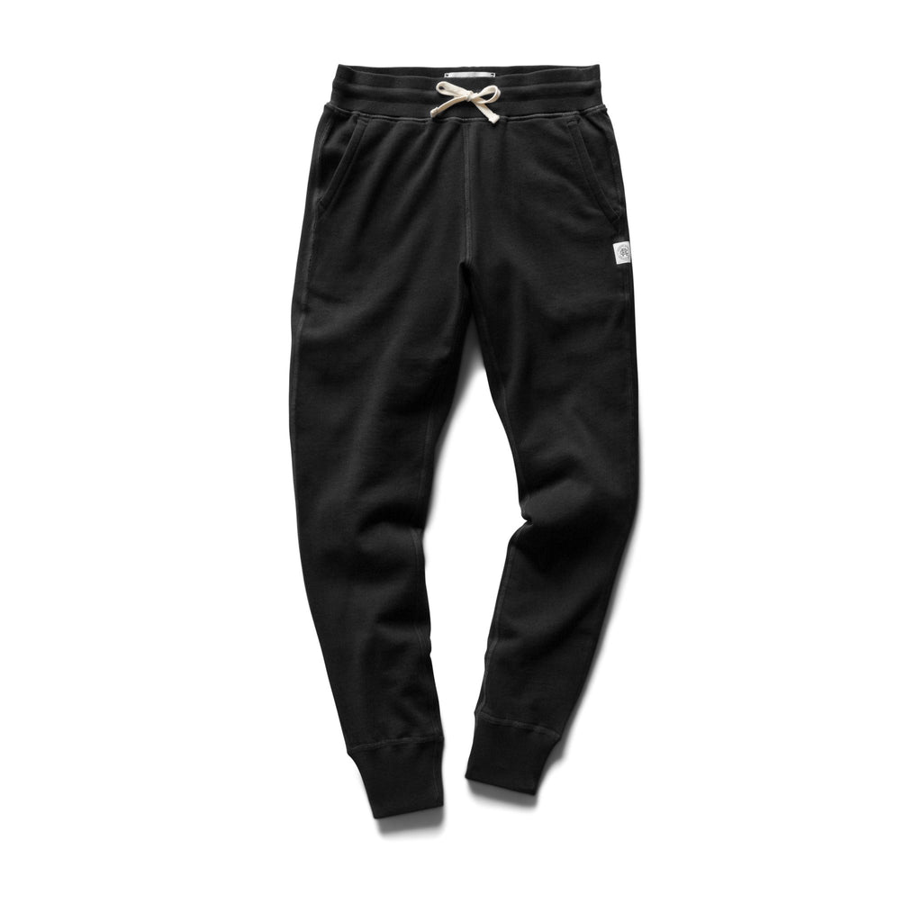 Reigning Champ Women's Knit Pima Terry Slim Sweatpant, Black