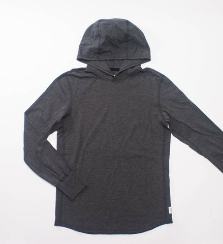Reigning Champ Ringspun Jersey Pullover Hoodie, Heather Charcoal