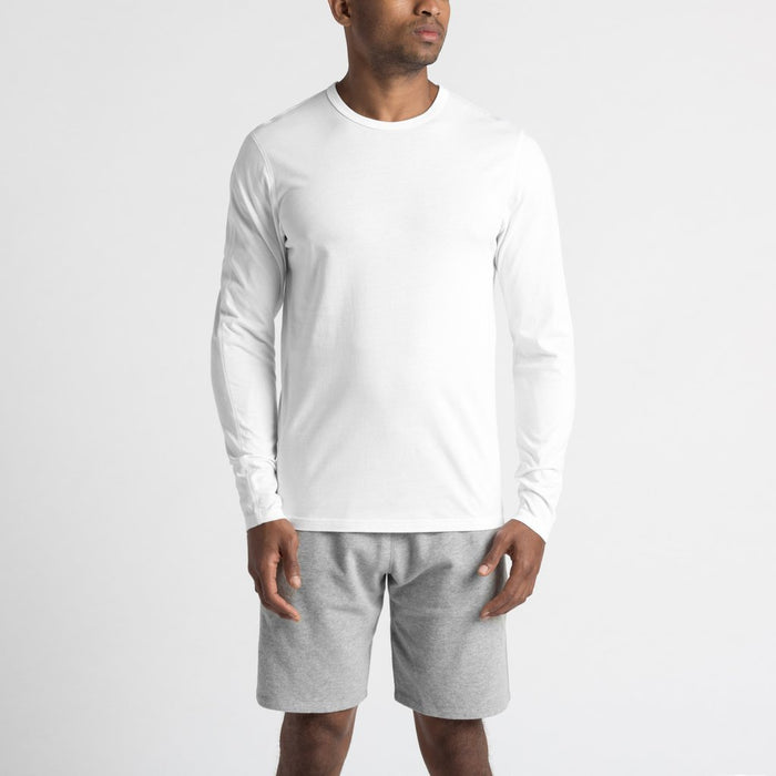 Reigning Champ Cotton Jersey Long Sleeve Crewneck - white | Spring Summer 2018 | Portland Dry Goods