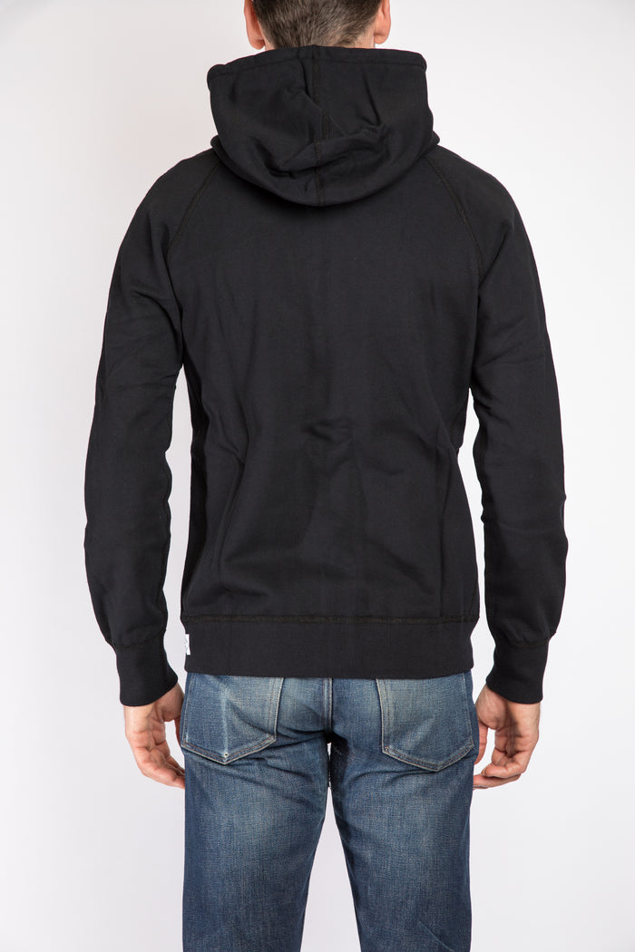 Reigning Champ Full Zip Hoodie, Black | Portland Dry Goods | flat back