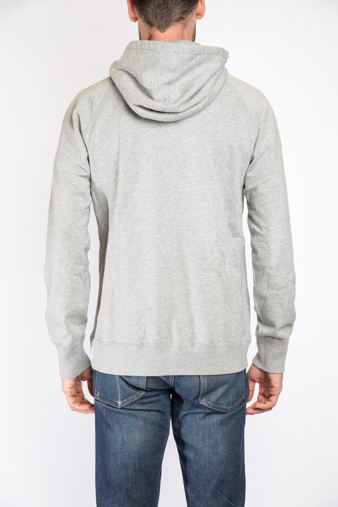Reigning Champ Full Zip Hoodie, Heather Grey | Portland Dry Goods | Back