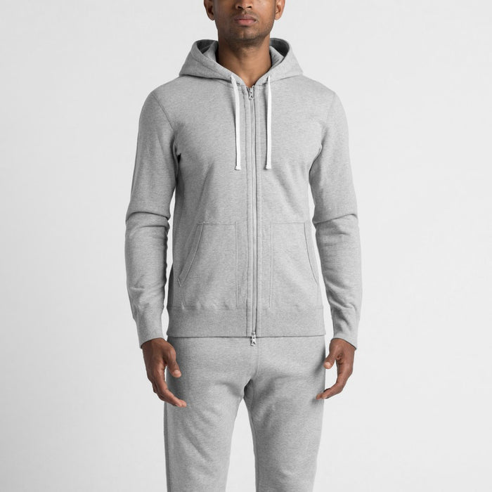 Reigning Champ Mid Weight Cotton Full Zip | black | Portland Dry Goods