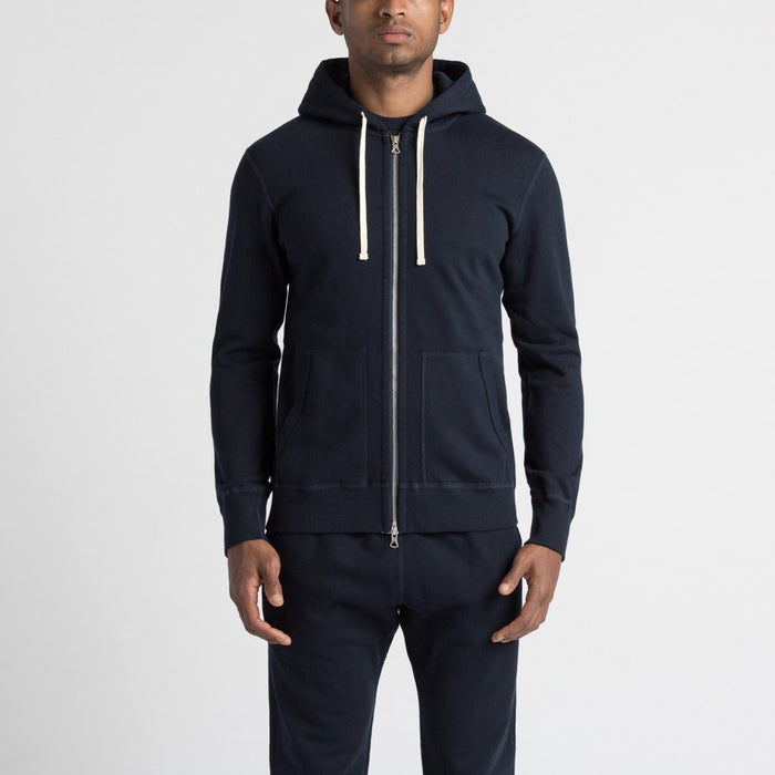 Reigning Champ Mid Weight Cotton Full Zip | navy | Portland Dry Goods