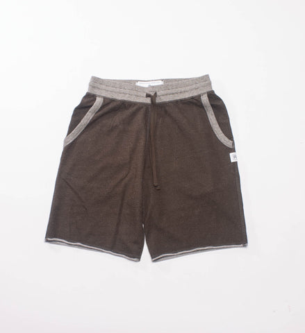 Reigning Champ Knit Diagonal Terry Sweatshort, Olive