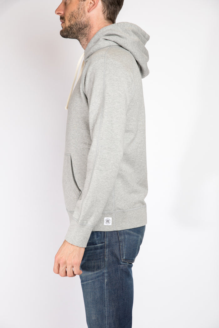 Reigning Champ Pullover Hoodie, Heather Grey | Portland Dry Goods | Flat Back