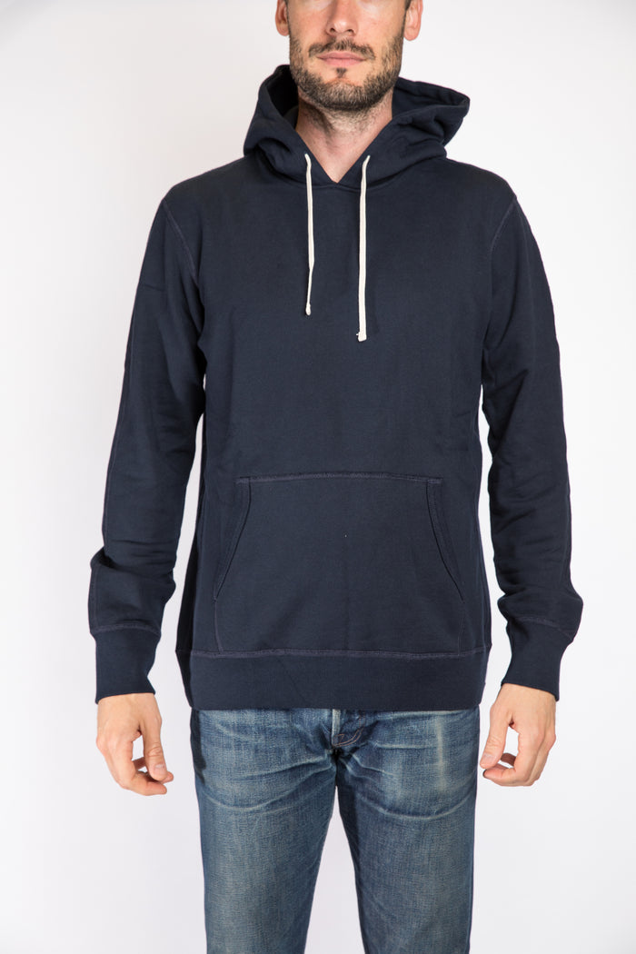 Reigning Champ Pullover Hoodie, Navy | Portland Dry Goods | Front