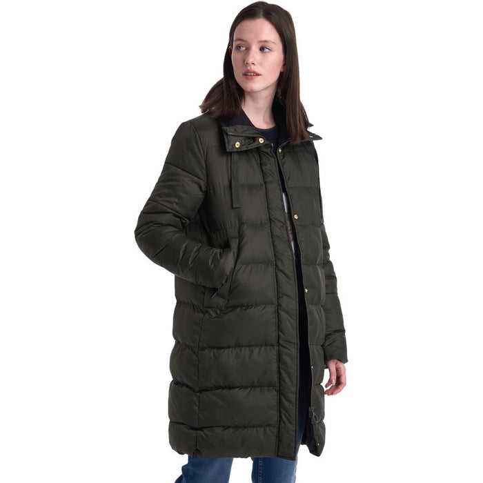 Barbour Weatheram Quilted Jacket, Sage/Black