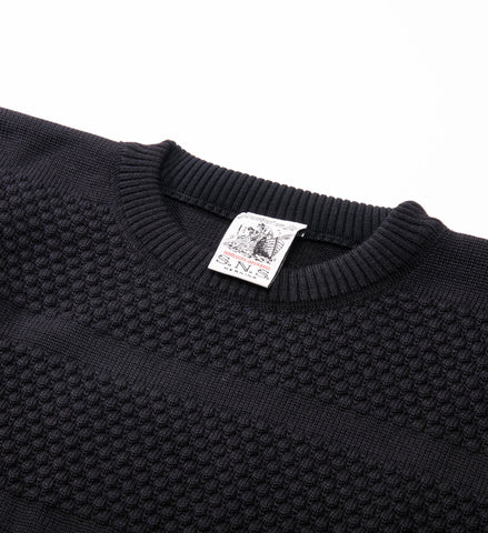 S.N.S. Herning Fisherman Crew Sweater, Black Hole