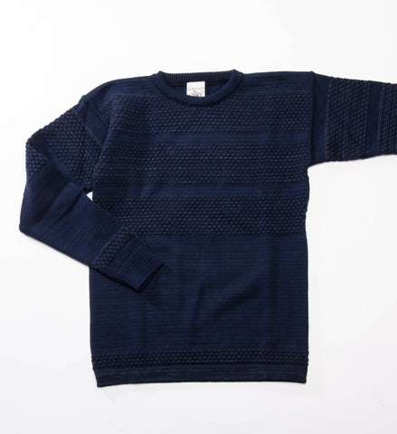 S.N.S. Herning Fisherman Crew Sweater, Blue Brain