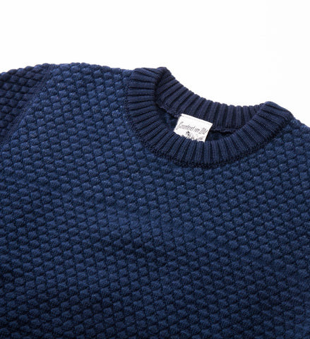S.N.S. Herning Terminal Crew Sweater, Blue Brain