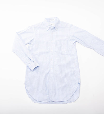 FWK 19th Century BD Shirt, Blue Oxford Stripe
