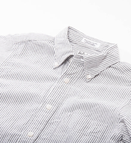 FWK 19th Century BD Shirt, Grey Oxford Stripe
