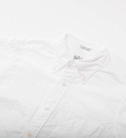 FWK 19th Century BD Shirt, White Cotton Oxford