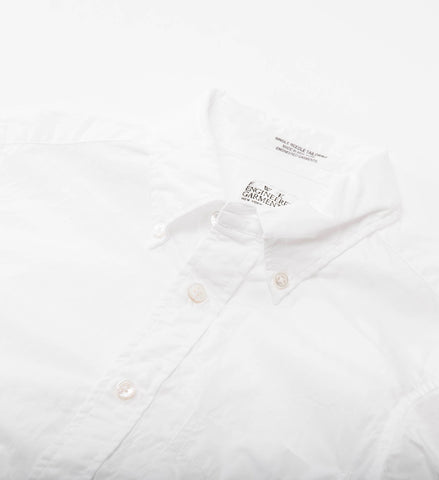 FWK 19th Century BD Shirt, White 2ply Broadcloth