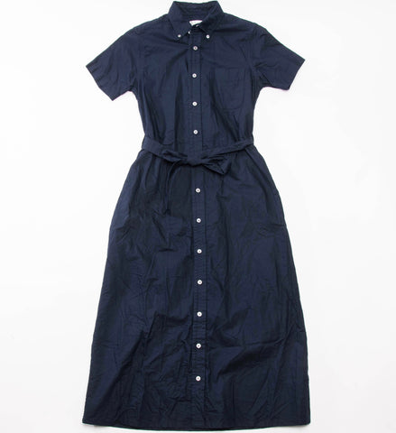 FWK Button Down Shirt Dress, Dark Navy Cotton Oxford