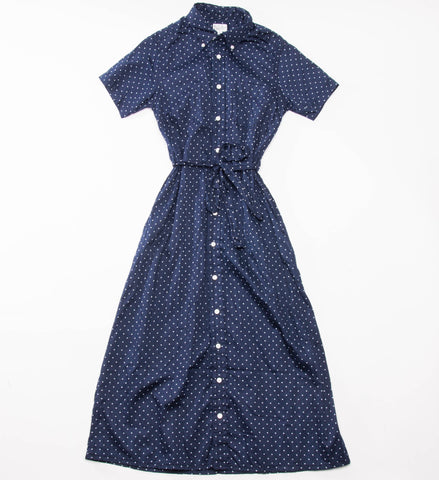 FWK Engineered Garments BD Shirt Dress, Navy Polka Dot