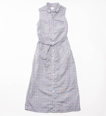FWK Classic Shirt Dress, Grey Glen Plaid