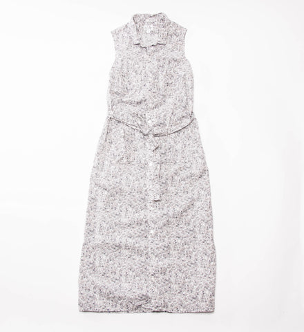 FWK Classic Shirt Dress, Grey/White Small Floral