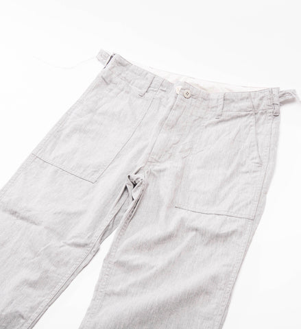 Women's Fatigue Pant, Heather Grey Cotton Twill