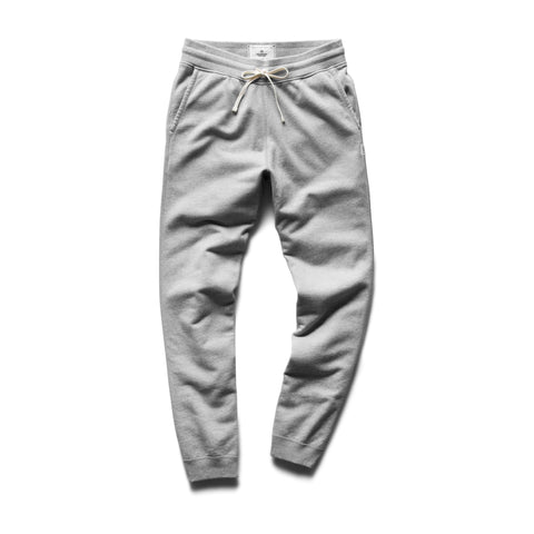 Reigning Champ Slim Sweatpant - Mid Weight Terry, Heather Grey