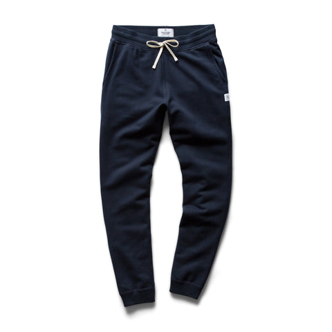 Reigning Champ Slim Sweatpant - Mid Weight Terry, Navy