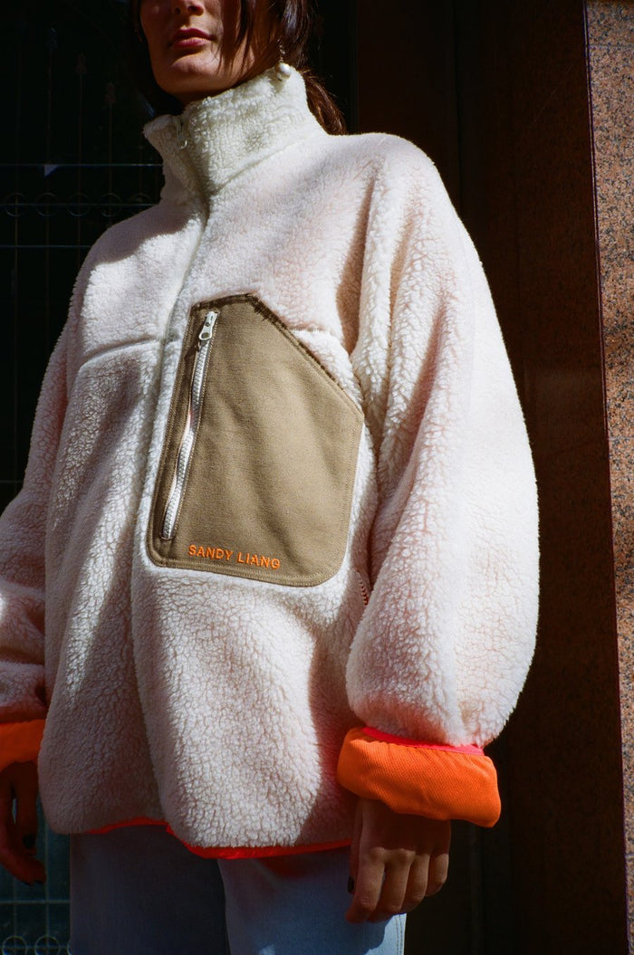 Sandy Liang Barn Fleece, Cream