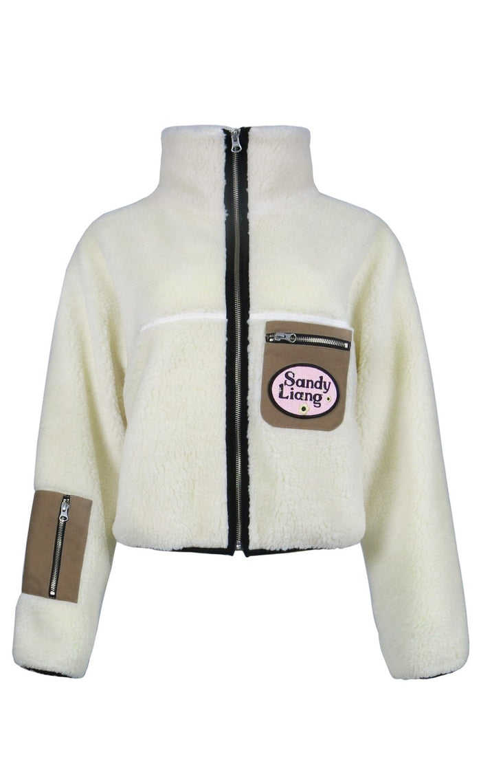 Sandy Liang Sarnie Fleece, Cream