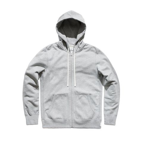 Reigning Champ Full Zip Hoodie Heather Grey