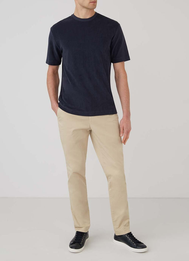 Sunspel Short Sleeve Terry T-Shirt, Navy