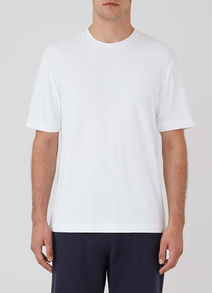 Sunspel Short Sleeve Terry T-Shirt, White