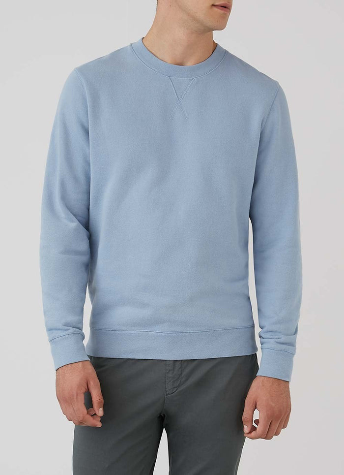 Sunspel Sweatshirt, Blue Sky