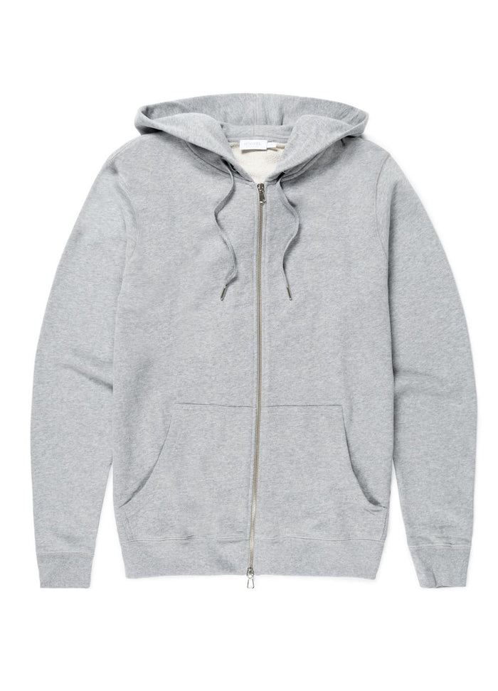 Sunspel Zip Hoody, Grey
