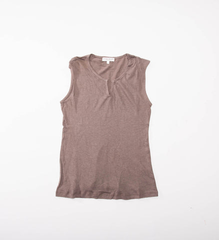 Women's Split Neck Tank, Dune