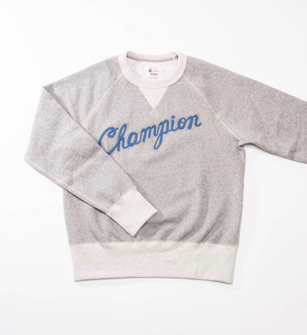 Todd Snyder Champion Graphic Sweatshirt, Antique Grey Heather/Eggshell Mix