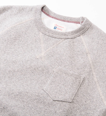 Todd Snyder Champion Pocket Sweatshirt, Antique Grey Mix