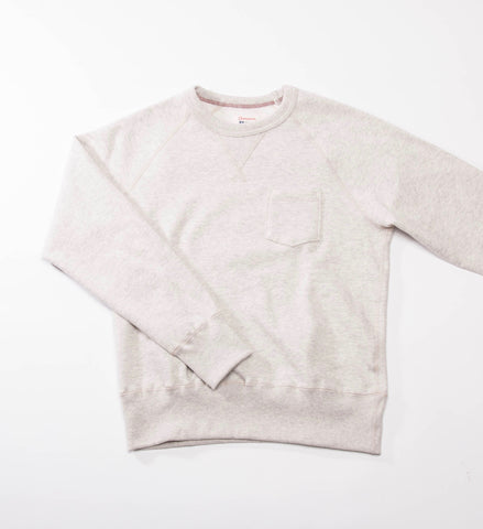 Todd Snyder Champion Pocket Sweatshirt, Eggshell Mix